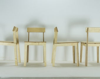 Houten design stoel eetkamer stoel stijl industriële etsy
