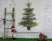 Christmas tree, Tapestry, tree decor, wall tapestry, Christmas decor, Holiday tapestry, holiday decor, Christmas tapestry, 100% linen