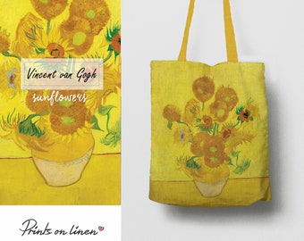 Van Gogh -  tote bag - fine art bag - linen tote bag - fine art shopping bag - unique tote bag - shopping bag - organic bag