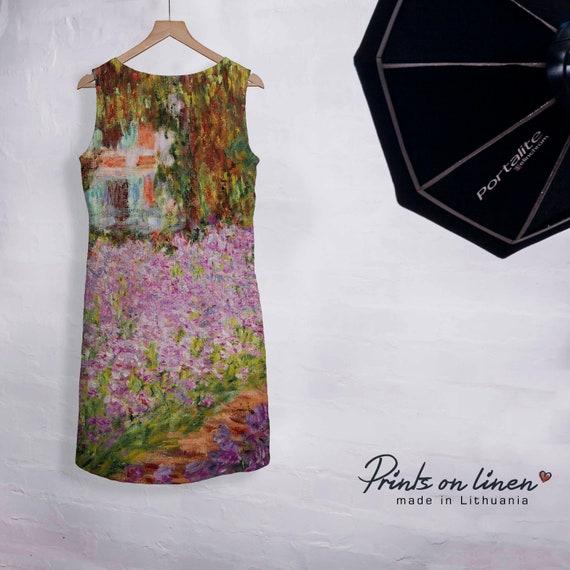 loose dress dress vintage dress boho idea Linen dress maxi party dress her dress dress Claude gift dress for hippie Monet Summer IPI60qv