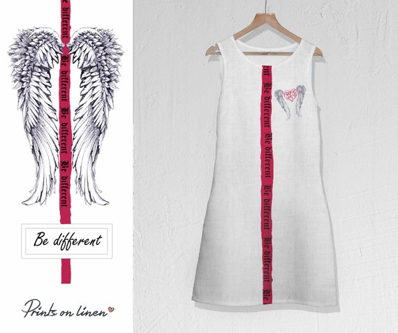 dress Maxi dress Loose dress Festival Linen Wings Festival dress boho white Prom dress shower tunic clothes bridal dress dress xE1YwqwF