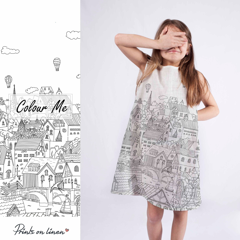 Custom Dress Easter Dress Girl Dress Colouring Dress Birthday