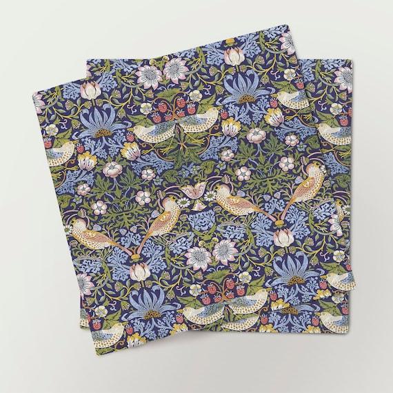 Napkins set, William Morris, Strawberry Thief, linen napkins, 100% linen, fabric napkins, custom napkins, Europe, hand made napkins
