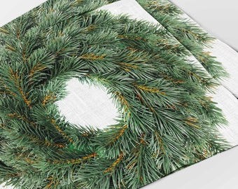Placemats set (4 or 6), Christmas placemats, Linen placemats, Christmas table decor, Fir print, Housewarming gift, Fabric placemats