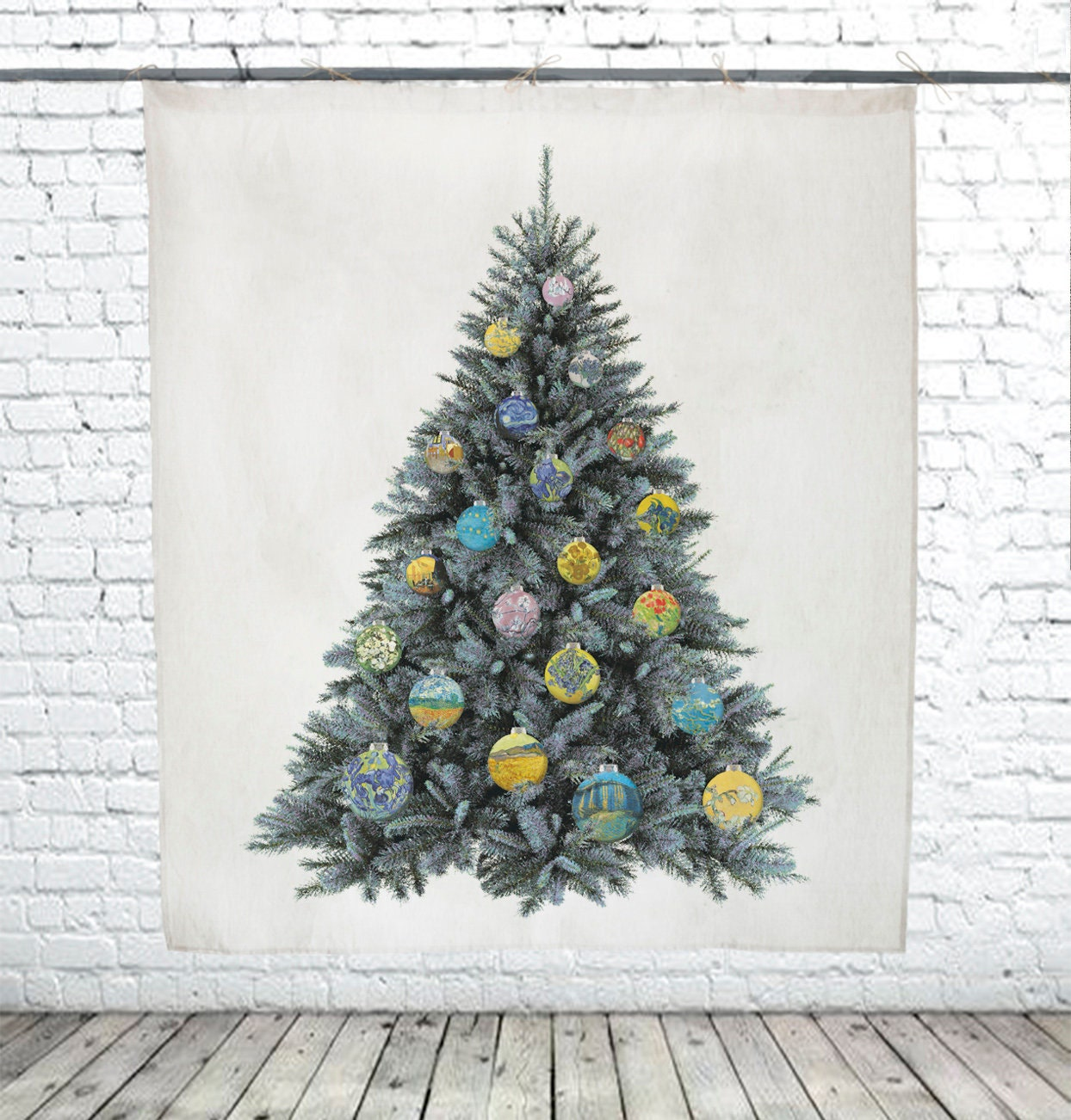 Tapestry, Van Gogh, tree decor, wall tapestry, fir tapestry