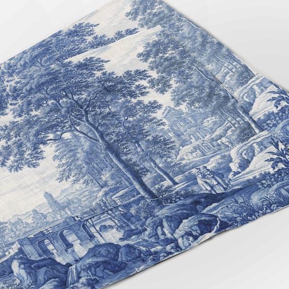 Placemats set (4 or 6), Frederik van Frytom, Vintage placemats,  Fabric placemats, 100% linen, art print, prints on linen