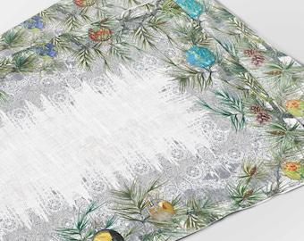 Placemats set, Vincent van Gogh, Christmas placemats, custom Christmas gift, Christmas decor, Van Gogh Christmas, linen placemats, Van Gogh