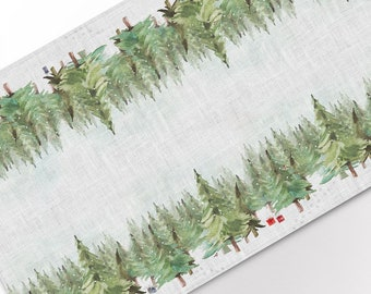 Table runner, Paws in the Snow, Christmas decorations, custom size, Christmas gift, housewarming gift, table topper, linens, Holiday decor