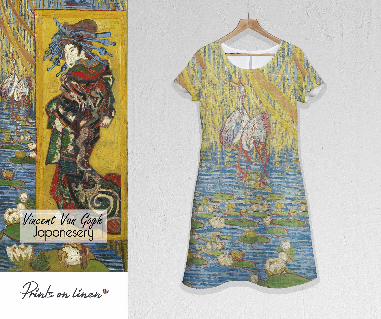 Van Gogh, Linen dress, Plus size dress, linen women dress ...