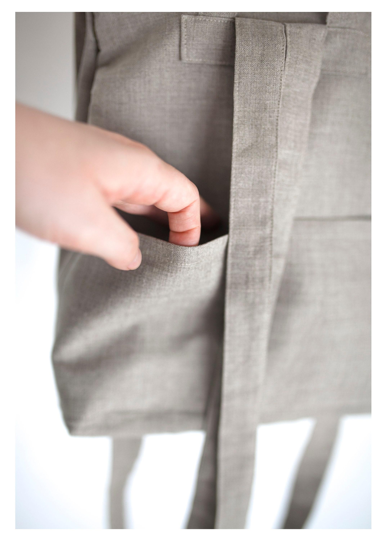 Small backpack, Gustav Klimt, 100% linen, women backpack