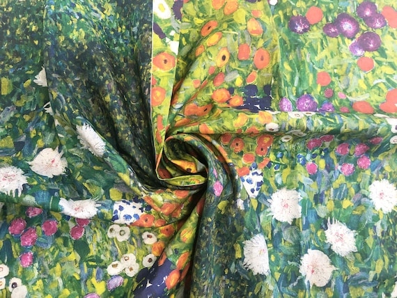 linen flax fabric by meters Fabric by yard Linen fabric Claude Monet fabric pattern 100/% linen fabric wholesale prints on linen