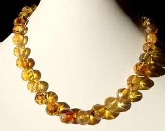 Mexico - Crystal amber necklace