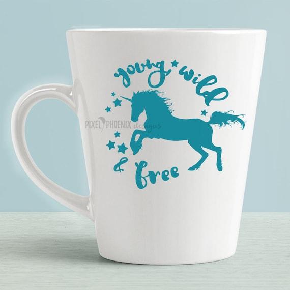 Young And Free Svg Unicorn Svg File Unicorn Cut File Etsy