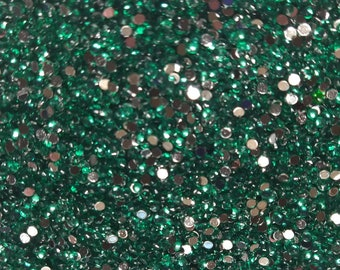 BULK 2000 Gems Seagreen FLATBACK CRYSTALS SS10 2.8mm Round Dmc 959 Rhinestone Embellishments Bling Diamonds Shiny Flat Back Bedazzled Gems