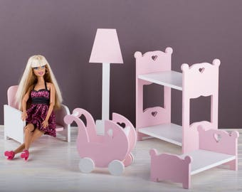 Etagenbett Puppenstube : Puppe stuhl tisch set puppenstube puppenküche barbie etsy
