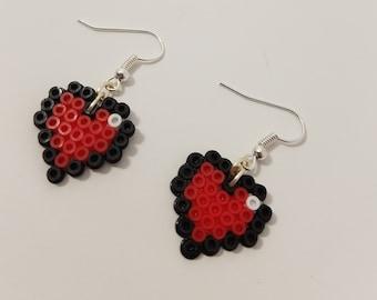 Hearts Perler Bead Earrings