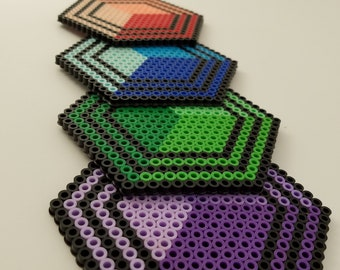 Coaster Set Geometric Shapes
