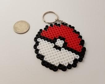 Pokemon Pokeball Perler Bead Keychain