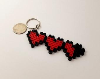 Legend of Zelda Life Hearts Perler Bead Keychain