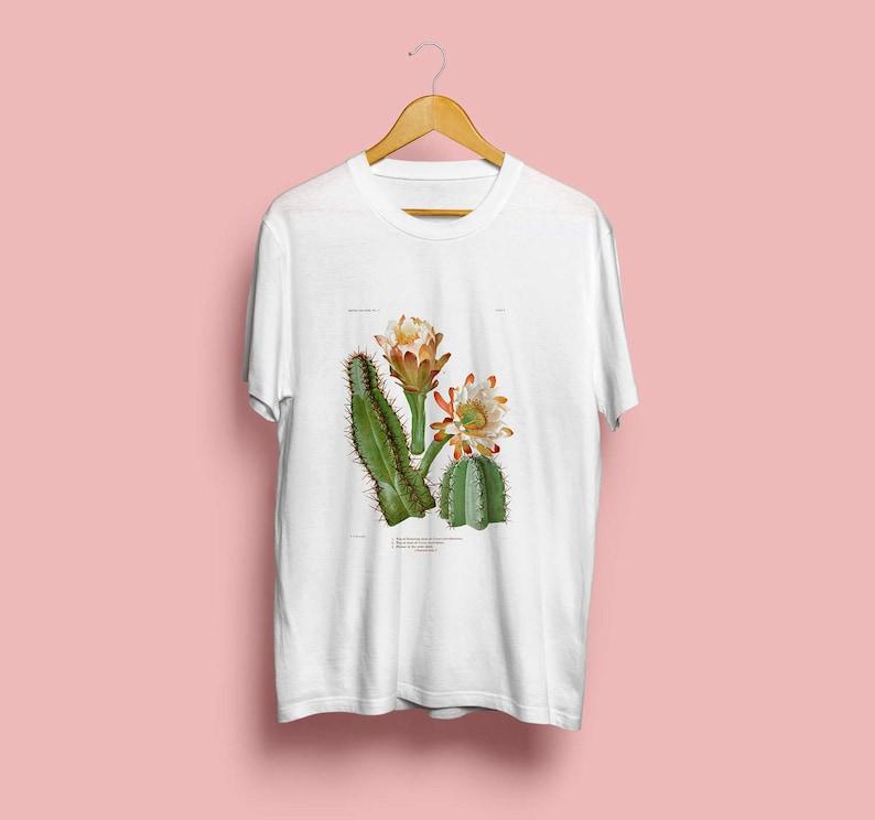 Queen of The Night Unisex T-Shirt  Botanical Illustration image 0
