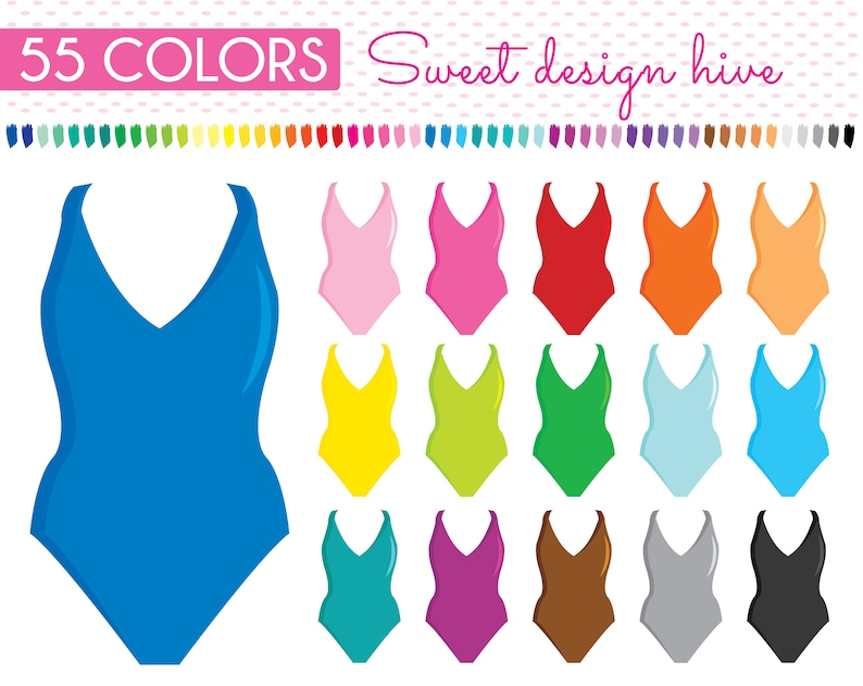 Swimming Suit Clipart Swimwear Clipart Swimsuit Clipart Etsy