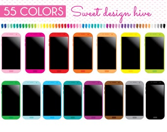 Smartphone Clipart, Mobile Phone Clipart, Cellphone clipart, Electronics Clipart, iPhone Clipart, Phone Clipart, Planner Clipart, PL0075