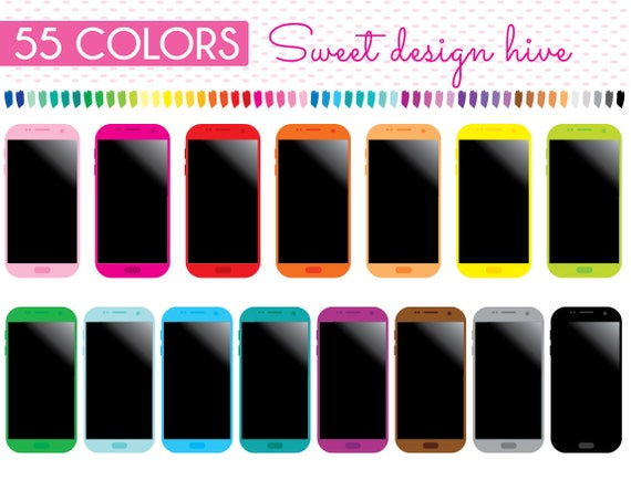 Smartphone Clipart Mobile Phone Clipart Cellphone Clipart Etsy