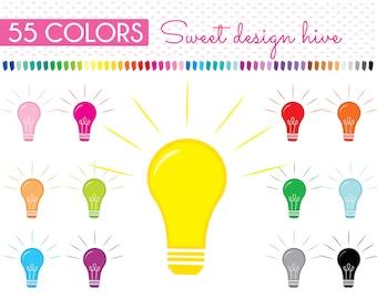 Light Bulb Clipart, Lightbulb Clipart, Light Clipart, Idea Clipart, Electronics, House Supplies, science, Planner Clipart, PL0152