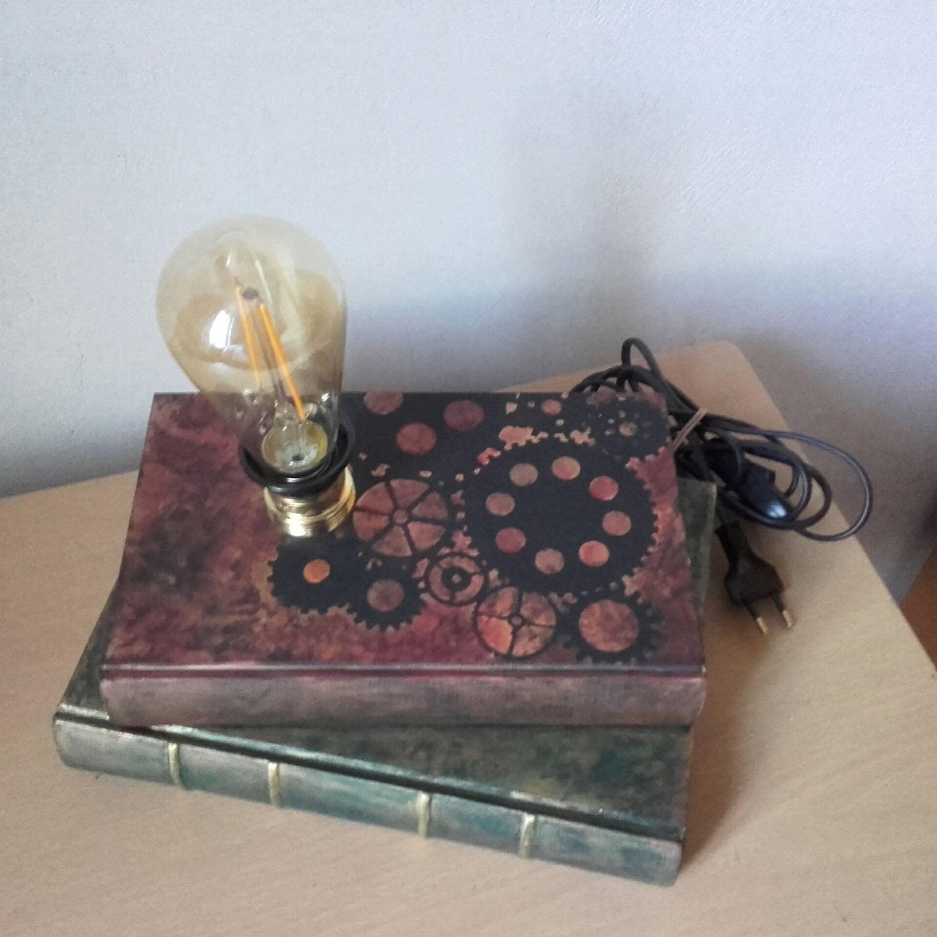 Steampunk comodino lampada lampada scrivania