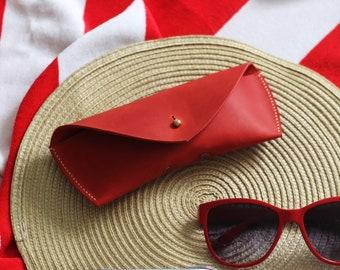 Red Glass Case, Leather Glasses Case, Sunglasses Case, Glasses Holder, Sunglasses Holder, Leather Case, Glasses Protector, Glasses Box