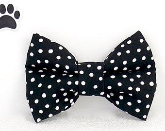 Orange Polka Dots Dog Bow Tie collar Sister always Charm Pet wedding