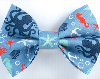 Dog Bow Tie, Summer Bow Tie, Cat Bow Tie, Beach Bow Tie, Squid  Bow Tie, Ocean Bow Tie, Bow Tie for Dogs