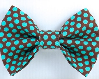 Bow Tie, Dog Bow Tie, Brown Bow Tie, Cat Bow Tie, Polka Dot Bow Tie, Bow Tie, Green Polka Dot Bow Tie, Bow Tie for Dogs