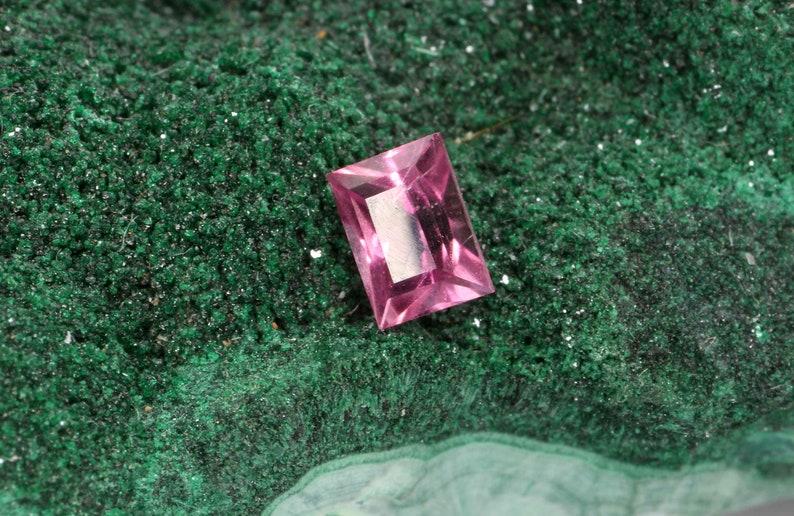 Mozambique 0.20ct Princess Cut Pink Tourmaline