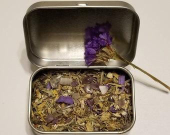 Handmade Incense, Herbal, Lotus, Herbs, Crystals, Gemstones, Amethyst, Meditation, Yoga, Self Care, Spiritual Gift