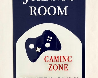 Gamers Only Metal Sign   Personalized Name Sign   Home Decor  Gaming Sign   Kids  Room Sign  Man Cave Sign   Game Room Sign