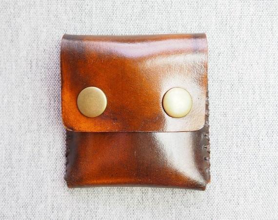 a0edb7e02bc80 Leder Geldbörse - antik braun
