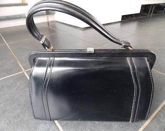Vintage French Black Handbag