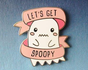 Let's Get Spoopy Hard Enamel Pin
