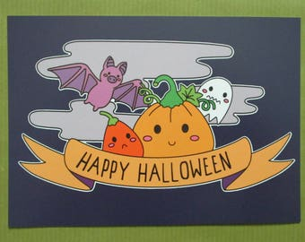 Happy Halloween Cute Postcards