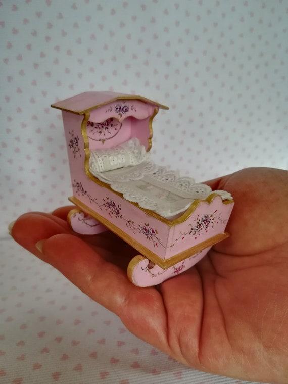 5 verschiedene Pferde-Miniatur-Stuhl-KISSEN,rosa,1:12