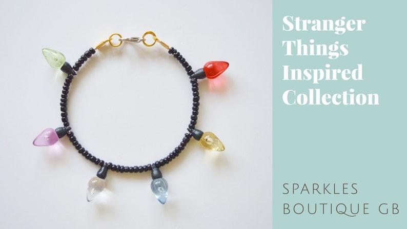 Stranger Things Inspired Collection  Light Bulb Beaded Bracelet