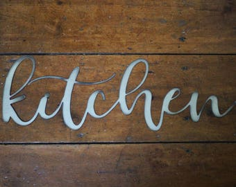 Items similar to Eat Metal Sign - Kitchen Wall Decor on Etsy