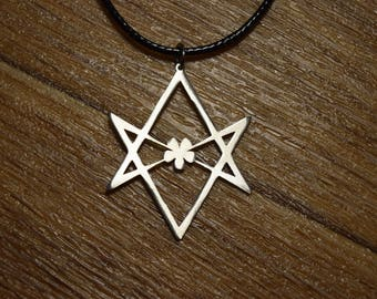 unicursal hexagram ring solid sterling silver