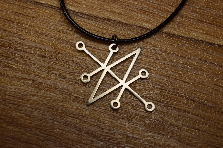Sceal Sigil of Azazel sigil of demons Necklace Satan Necklace Lesser Key  demon seal pendant Goetia necklace Lemegeton jewelry Seal Lucifer