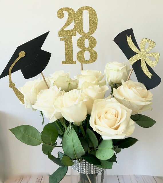 1a9928b7f0bfa Graduation Party Decorations, Graduation Centerpiece Sticks, Class of 2019,  Graduation Party Decor, Graduation 2018 Decorations, 2019