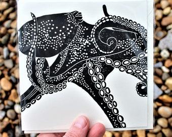 Octopus  Blank Greetings Card