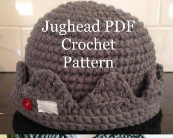 Quick and easy Jughead Beanie Crochet PDF Pattern 6f89aa9db2f