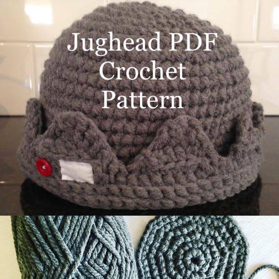 Quick And Easy Jughead Beanie Crochet Pdf Pattern Beginner Etsy