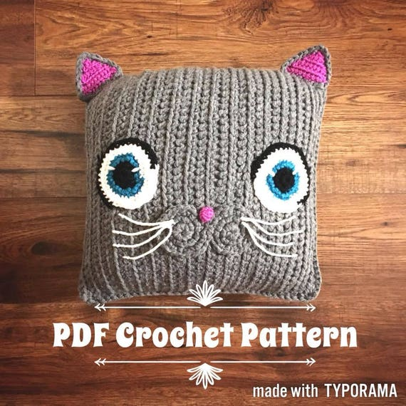 Many Cats square // free crochet pattern | 570x570